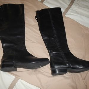 Vince Camuto Womens Leather Kadia Black Boots